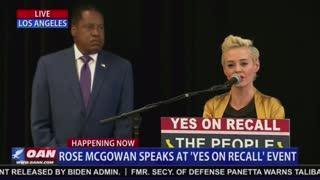 Part 1 - Rose McGowan and Larry Elder Host Press Conference for Gavin Newsom Recall