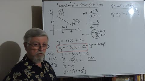 Math Coord Geometry Equation of a Straight Line
