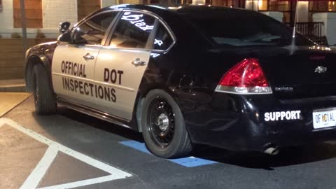 Official Dept of Transportation car illegally parked