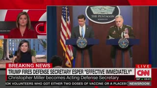 "Trump FIRES Defense Secretary Esper ""Effective Immediately"""