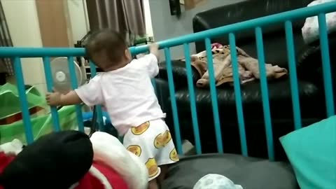 Baby is never tired!