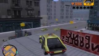 GTA 3 - stunt jumps on car, using 'CORNERSLIKEMAD' cheat (part 2)