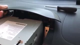 I-Miev aftermarket stereo double din install