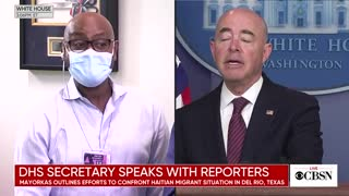 Reporter Presses Mayorkas On Treatment Of Haitian Migrants