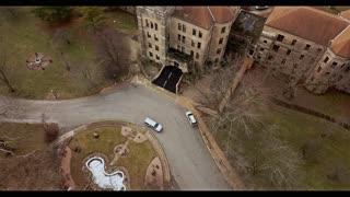 Drone View Shapiro Clocktower