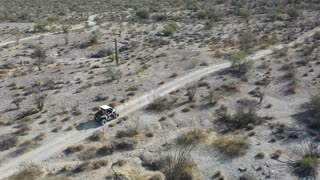 Off road side by side in desert with Rick in Salome, AZ