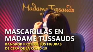 El Madame Tussauds de Bangkok coloca mascarillas a todas sus celebridades