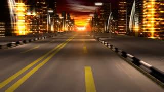 Lights street record in night