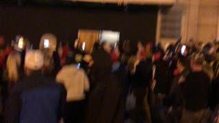 blm/antifa scum being held by Patriots until police arrived
