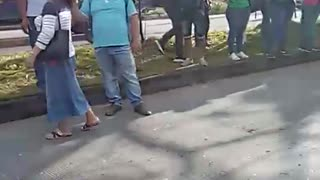 Dos buses de Metrolínea se estrellaron en Floridablanca