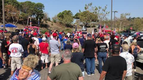 Trump, Patriot, Back the Blue car/truck rally