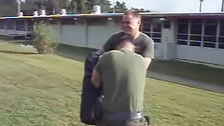 Marine pissed his pant after sprayed with oc