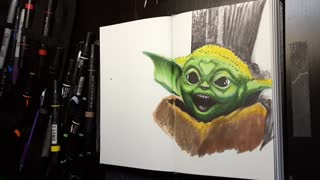 Drawing Baby Yoda