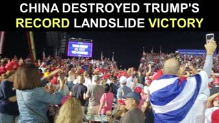 China LOVES Biden and they DESTROYED Trump's Record Landslide Victory