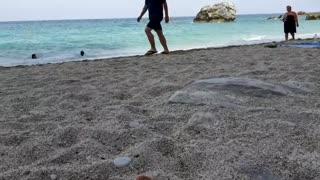 beach greece beautiful beach