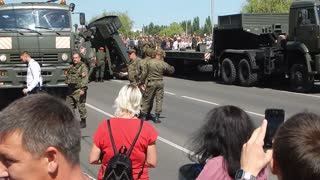 T-34 Tank Falls off Truck During Parade