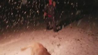 Rare S. Texas snow storm