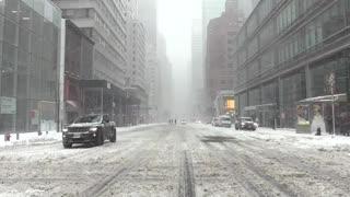 Un gran temporal cubre de nieve Nueva York y todo el noreste del país