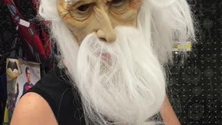 Kids Unimpressed with Halloween Mask