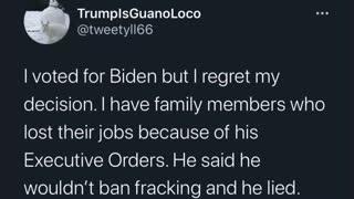 I regret voting for Biden