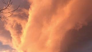 Fire Tornado Cloud Lights up Morning Sky
