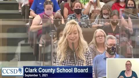 Mindy Robinson UNLOADS on Clark County, Nevada School Board receives roaring ovation!