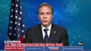 Blinken: President Joe Biden Is Working To Lift Sanctions on Iran Even Though Iran Funds Terror