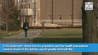 University of Notre Dame drops out as host of first presidential debate