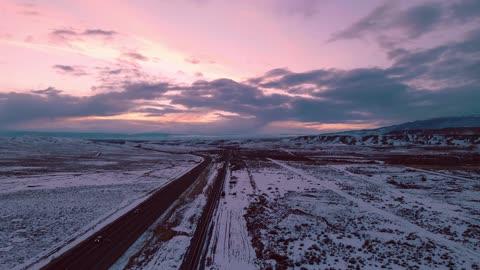 January Sunset - Western Colorado