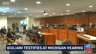 Michigan election hearing, eyewitness testimony.