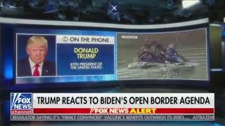 Donald Trump EVISCERATES Biden For Creating The Border Crisis