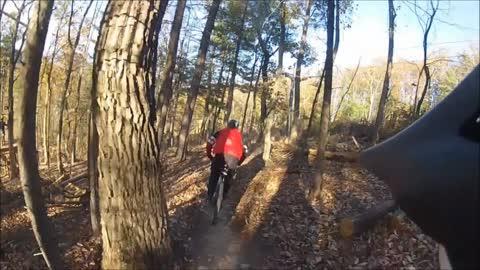 Hampton Roads Outdoor Adventures - 2014 Bryce Bayse Mtn MTB'ing downhill
