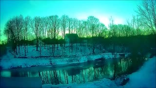 Maine Winter Sunrise Timelapse. Two hours in 20 Seconds