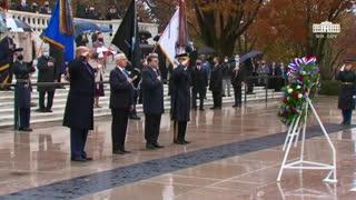 LIVE: President Trump visits Arlington Cemetery for Veterans Day