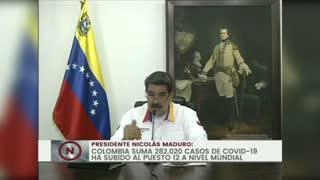 Maduro pide a Colombia y Brasil cooperar para tratar el COVID-19 en fronteras