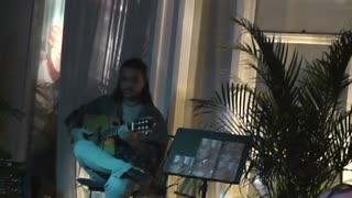 Daniel Almeria playing at Cafe Med, South Beach, Miami Beach, Florida.
