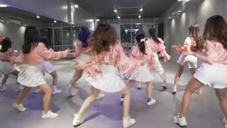 Group of Cute Girls Performing in Sexy Dance Class #1