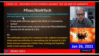 COVID 19 ARE MODERNA AND PFIZER VACCINES EFFECTIVE AGAINST THE UK AND S AFRICAN VARIANTS