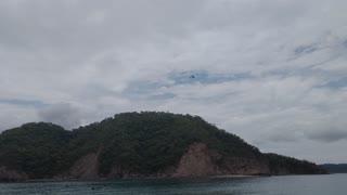 Ultralight flying over islands off Costa Rica