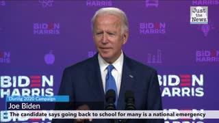 Biden says safely opening schools is 'national emergency,' Trump has no plan