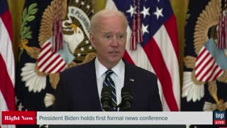Joe Biden Gets LOST in Middle of Sentence During First Press Conference