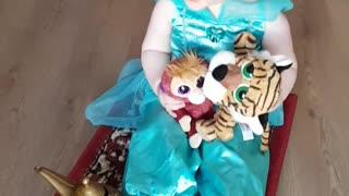 Princess Flies Alone on Magic Carpet Due To Social Distancing