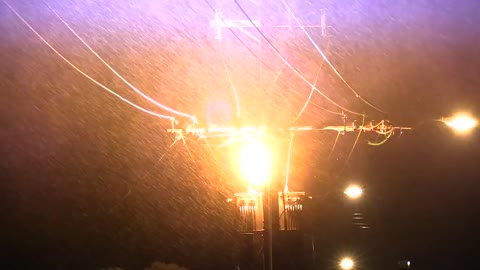Huge electrical explosion after a cyclone