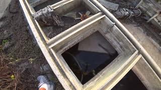 Exploring Abandoned Fishing Boat