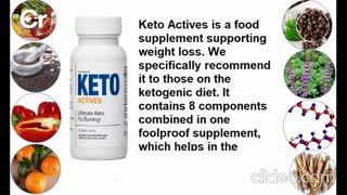 Keto Actives is a food supplement supporting weight loss.