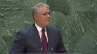 Duque denunció en la ONU apoyo de Maduro al terrorismo