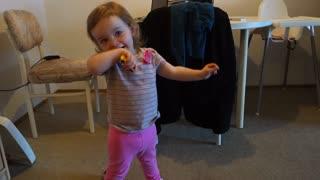 Toddler posing like a model