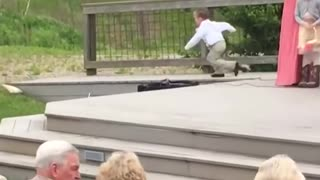 Kids add some funny to a wedding