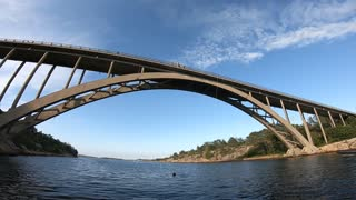 Giant Jump from a Big Bridge