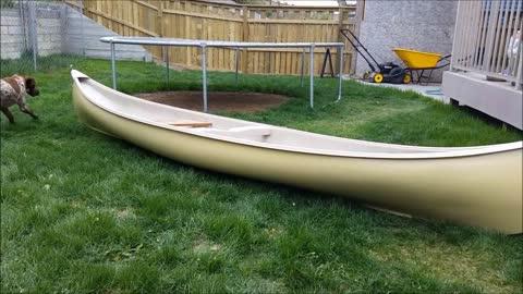 Painting a Fibreglass Canoe